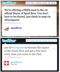 Foursquare mayor offer tweets