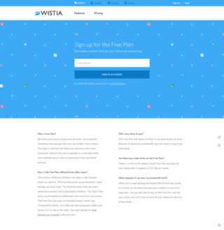 Check out this simplistic, yet effective design by Wistia
