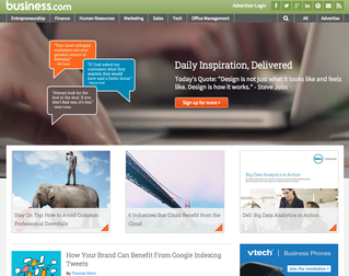 Native advertising example Dell on Business.com
