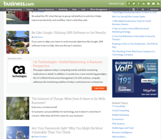 Native advertising on business.com CA