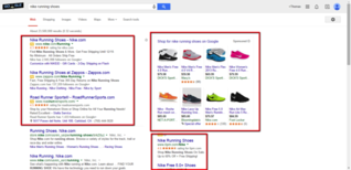 Example of paid search ad