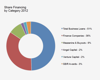 Share financing by category
