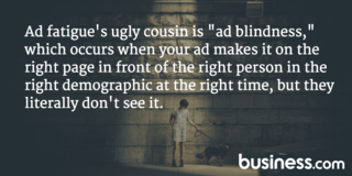 What is ad blindness?
