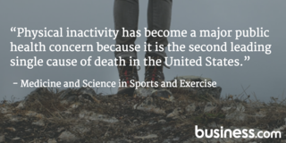 lack of physical activity is the second leading cause of death