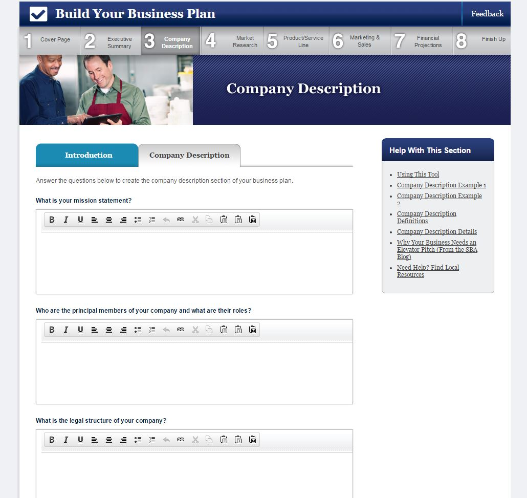 7 Best Free Business Plan Templates – Sba Business Plan Template