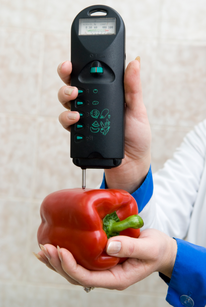 Food Testing on a Bell Pepper