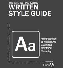 Hubspot Internet Marketing Written Style Guide
