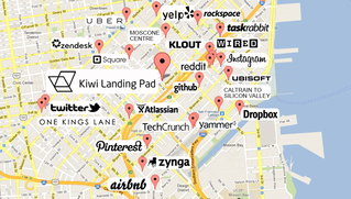 Map of San Francisco Startups
