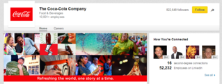 Coca Cola LinkedIn Profile, cover and profile picture