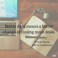 Better data means a better chance of closing more deals