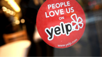 Yelp window sticker for businesses
