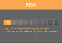 very few organizations succeed in big data implementation