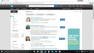 example of linkedin profile search page