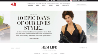 The H&M blog features a slider