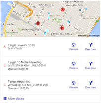 Google maps populating local results