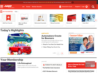 AARP home page
