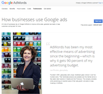 Photo of Lee Rhodes with a quote about AdWords