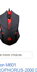 Amazon prime search result for a gaming mouse