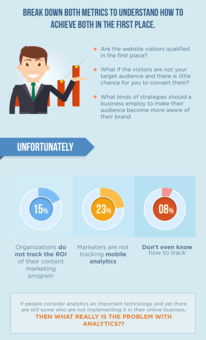 infographic on web analytics