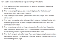 six characteristics of high-converting CTA buttons.