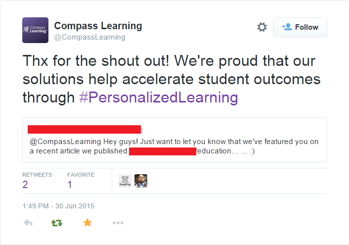Compass Learning retweet - Influencers