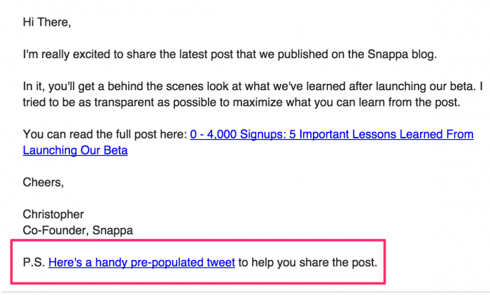 Snappa influencers marketing email template