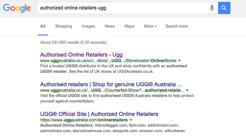 Ugg authorized online retailers list for List of online retailers