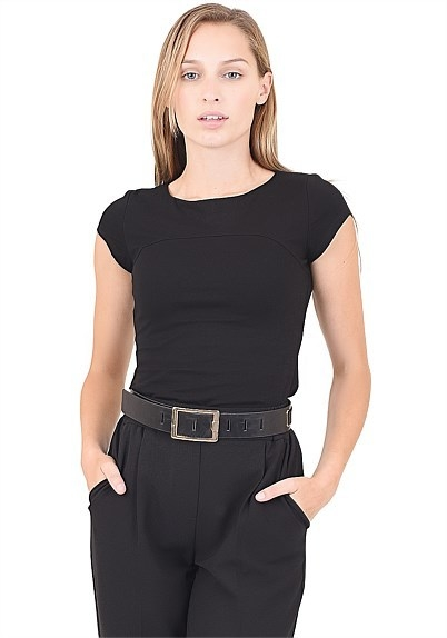 Kristy Panel Cap Sleeve Top - Work Wear, Forcast Clothing