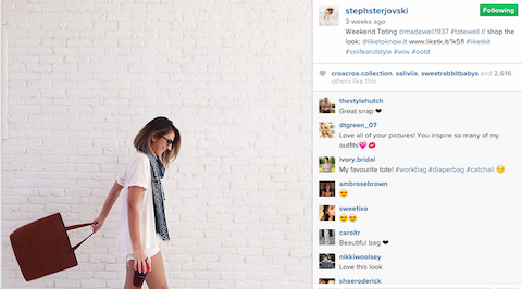 Madewell instagram influencer marketing