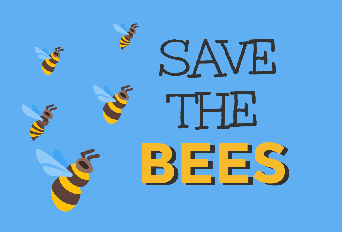 infographic maker that says, Save the Bees.