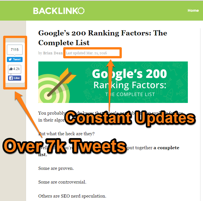 Backlinko - Google Ranking Factors