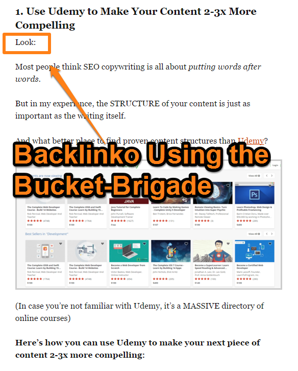 Backlinko - Bucket Brigade