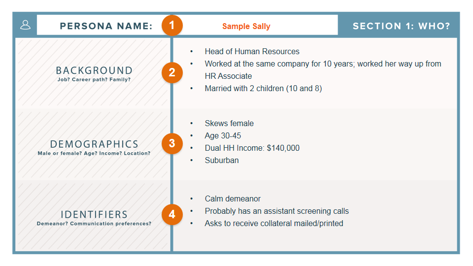 Buyer Persona Template from Hubspot