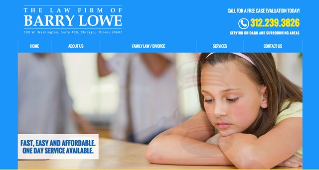 The Law Firm of Barry Lowe website screenshot