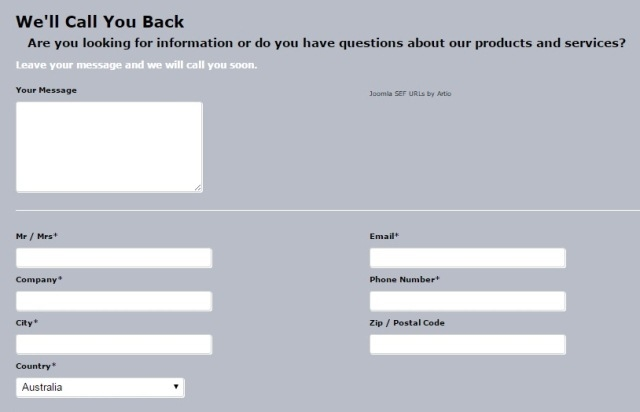 Business questionnaire form example