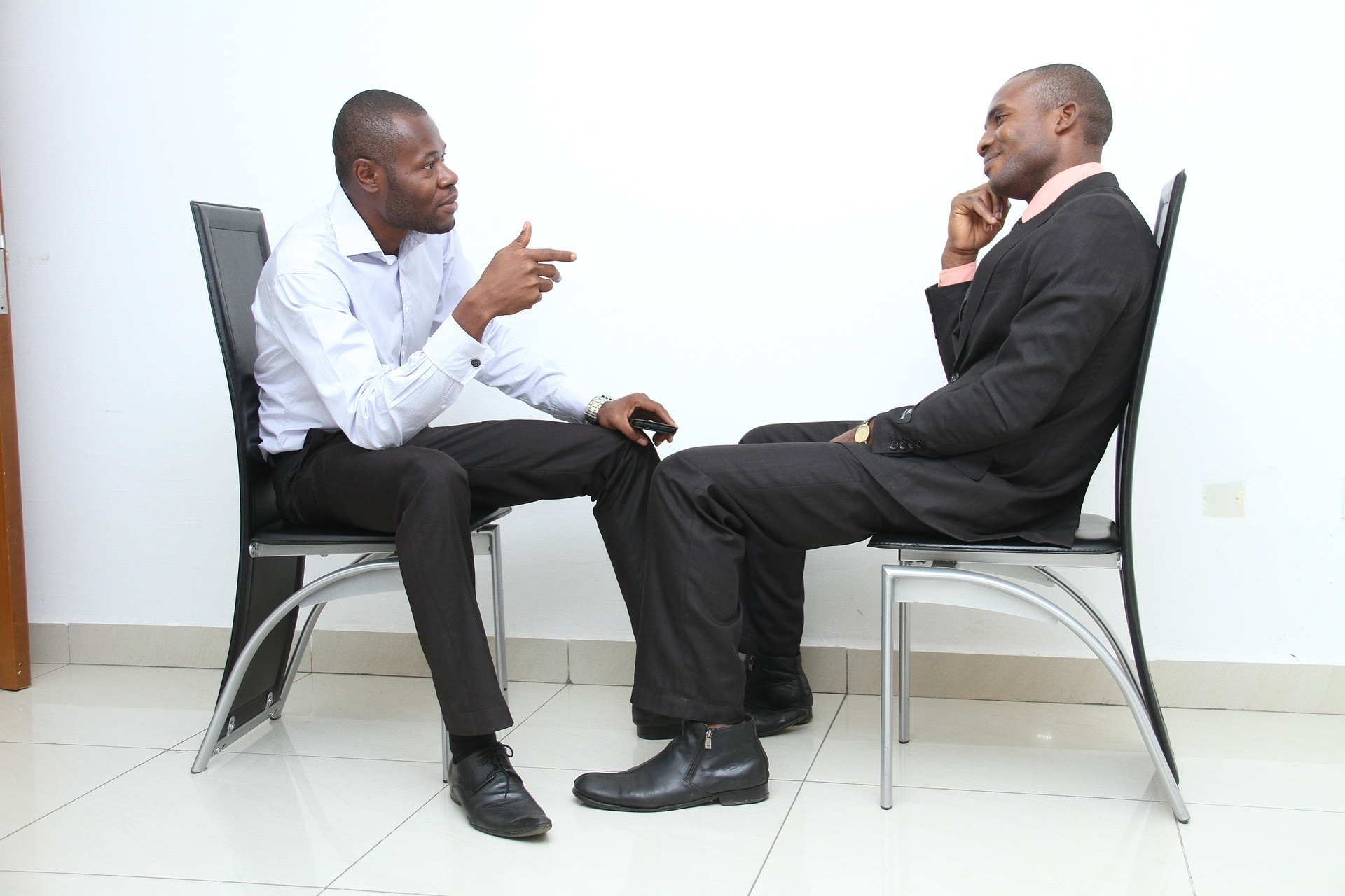 Body language demonstrates how comfortable a person is in a professional setting, as well as how interested the person is in what you are saying and asking.