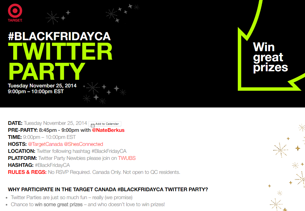 Throw a Twitter party_Target Canada