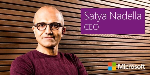 Picture of Satya Nadella - CEO of Microsoft