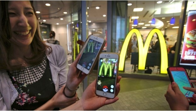Pokemon Go played at a local McDonalds