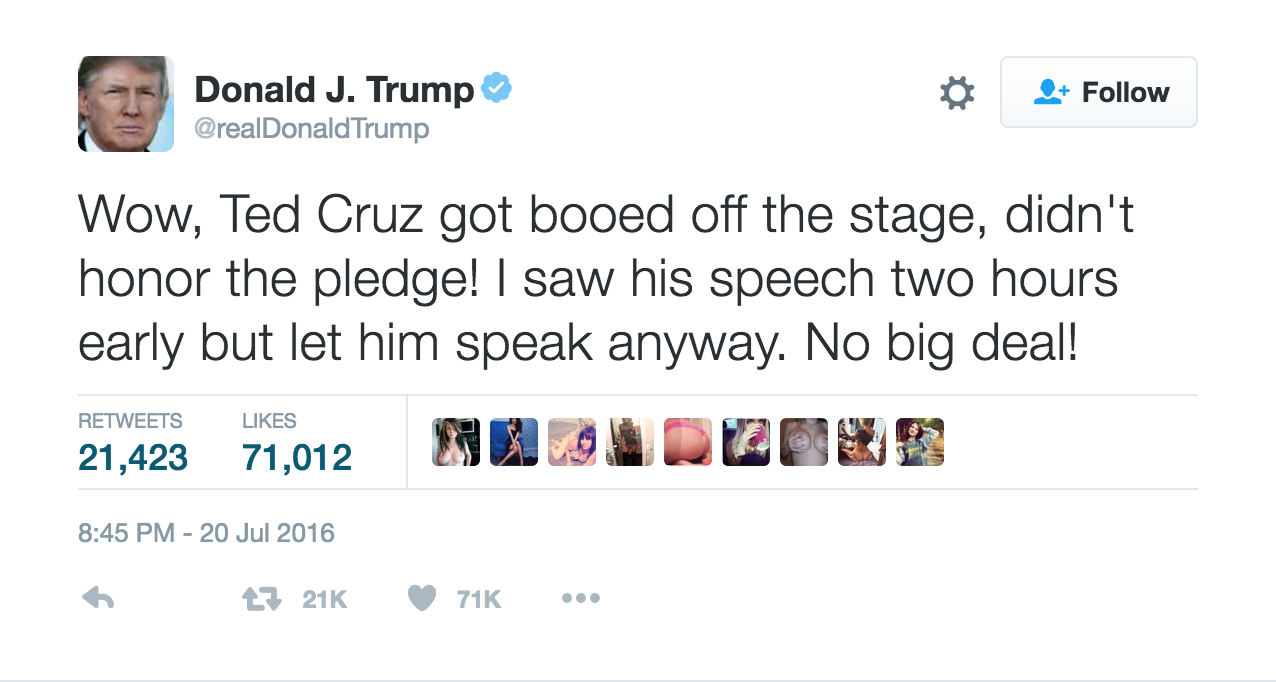 Donald Trump Tweet screenshot
