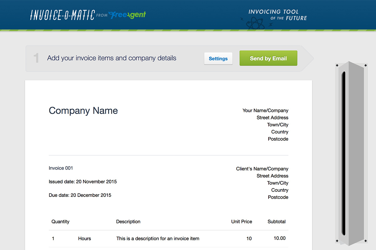Invoiceomatic screenshot