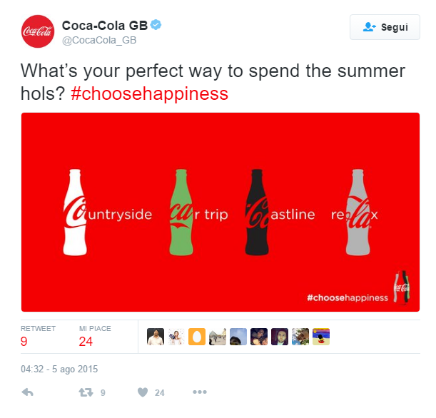 Coca Cola GB Twitter promotion