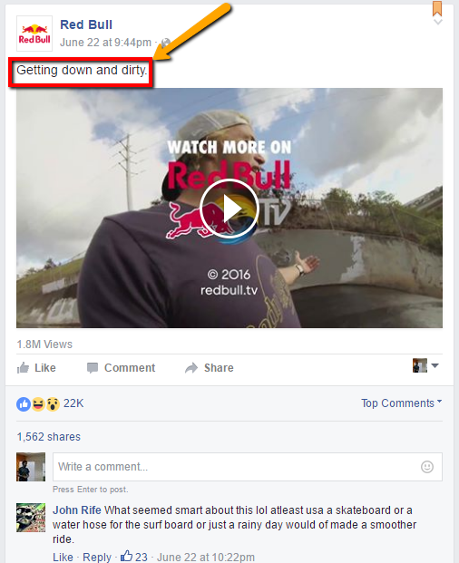Red Bull Facebook Ad