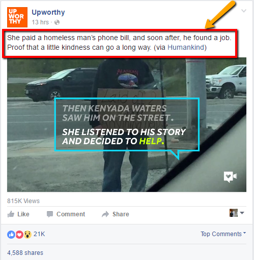 UpWorthy Facebook Ad