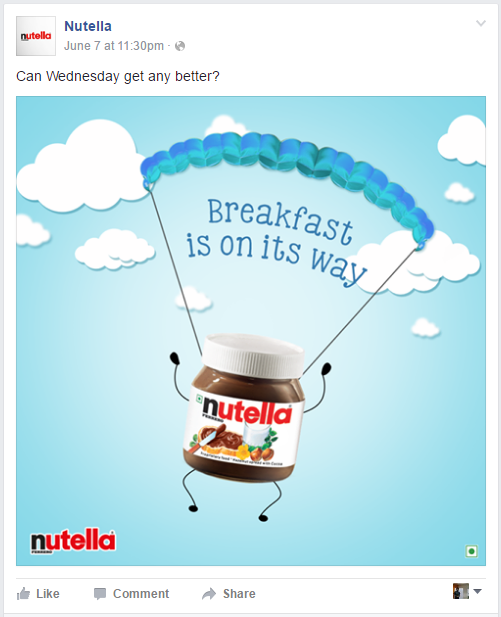 Nutella Facebook Ad