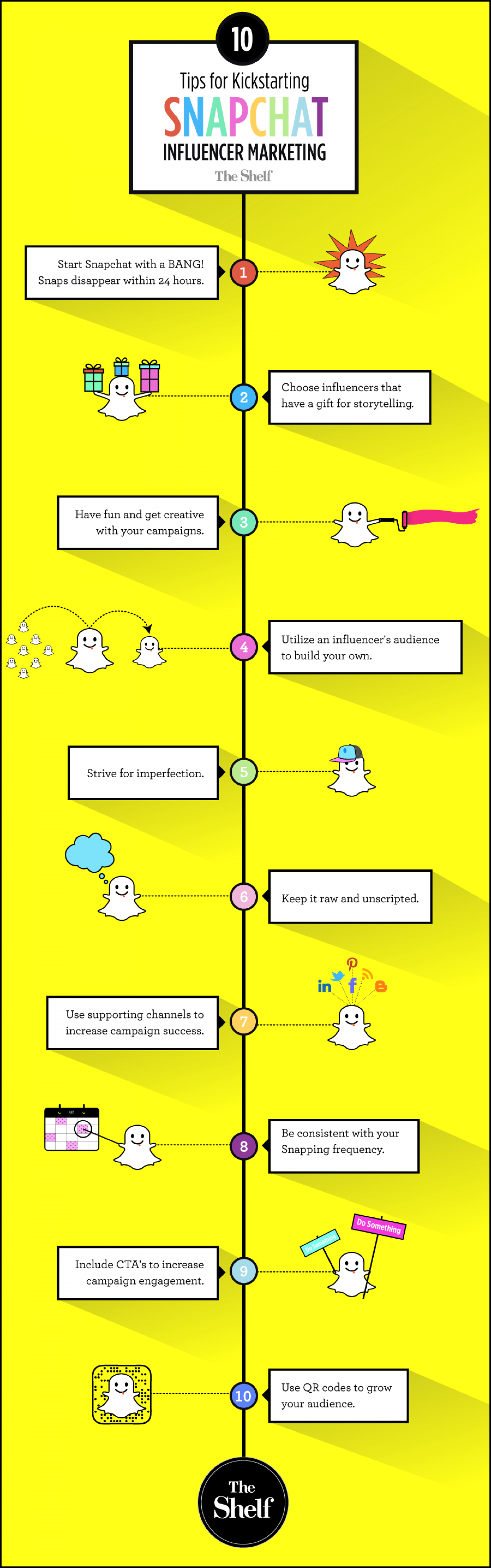 Snapchat sign up create account - Infographic Tips For Kickstarting Snapchat Influencer Marketing